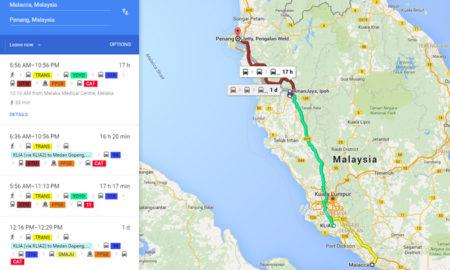 Travel by bus to Melaka